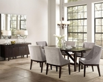 Candice Cappuccino Wood Dining Table Set
