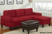 Capon Reversible Sectional Sofa with Ottoman