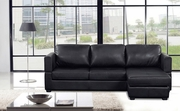Cassandra Mini Black Sectional Sofa