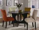 Castana Black Satin Wood Dining Table Set