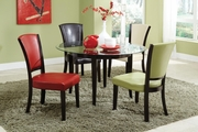 Charleston Espresso Wood And Glass Dining Table Set