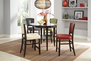 Charleston Espresso Wood And Glass Pub Table Set