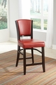 Red Leather Dining Chair