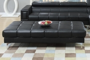 Chester Black Leather Ottoman
