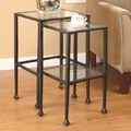 Clear Glass Nesting Table
