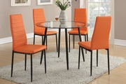 Clear Metal Dining Table and Chair Set