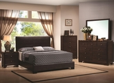 Conner Dark Walnut Wood Queen Bed Set