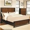 Coronado Brown Wood Eastern King Size Bed