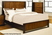 Coronado Brown Wood Queen Size Bed