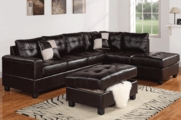 Crossfire Espresso Sectional Sofa