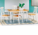 Damen Natural/White Wood Dining Table Set