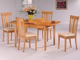 Davie Natural Wood Dining Table Set