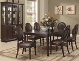 Davina Brown Cherry Wood Dining Table Set