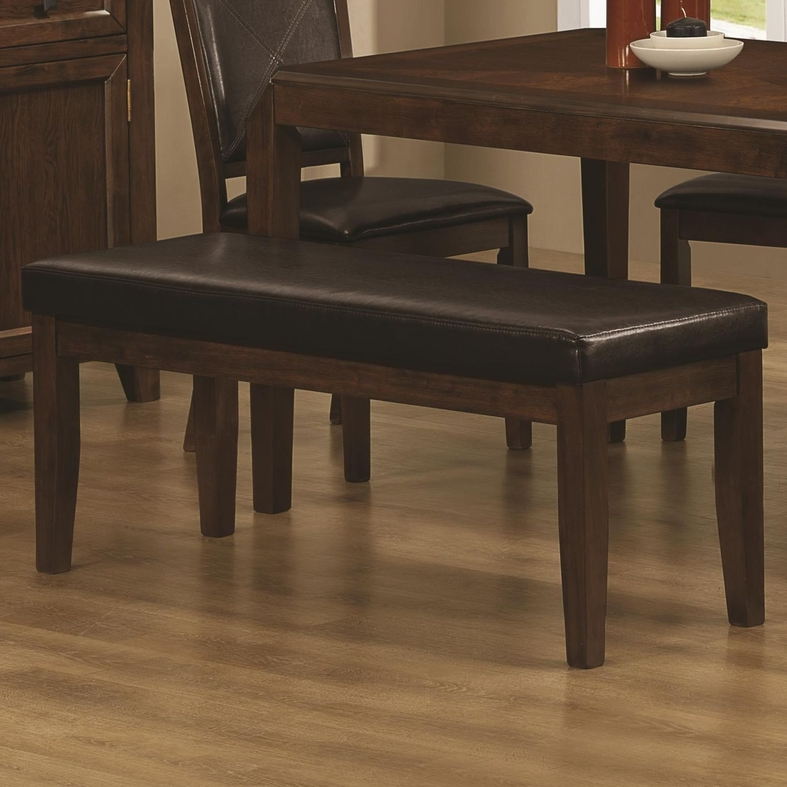 davina dark oak wood dining bench