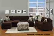 Deyan Chocolate Sectional Sofa