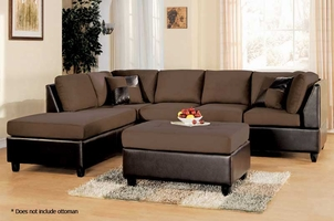 Easyrider Chocolate Microfiber Sectional Sofa