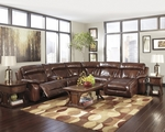 Elemen Brown Leather Sectional Sofa