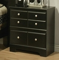 Elena Black Wood Nightstand