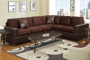 Playa Chocolate Fabric Sectional Sofa
