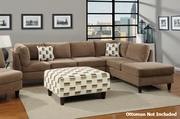 Elsa Reversible Tan Sectional Sofa