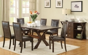 Emerson Cappuccino Wood Dining Table