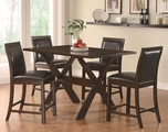 Emerson Cappuccino Wood Pub Table Set