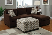 Emil Chocolate Sectional Sofa