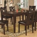 Brown Glass Dining Table