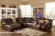 Exhilaration Chocolate Reclining Sectional Sofa