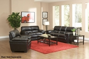 Fenmore Black Leather Sofa and Loveseat Set