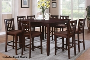 Fia 9pc Pub Table and Chair Set