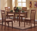 Filip Walnut Wood 5 Piece Dining Set