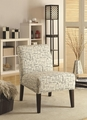 Finley Beige Fabric Accent Chair