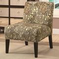 Finley Brown Fabric Accent Chair