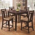 Fisk Espresso Wood Pub Table Set