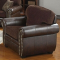 Florence Brown Fabric Chair