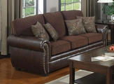 Florence Brown Fabric Sofa