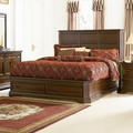 Brown Wood Eastern King Size Bed