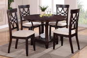 Gracie Espresso Wood Dining Table Set