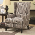 Grey Fabric Accent Chair