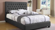 Grey Fabric Bed
