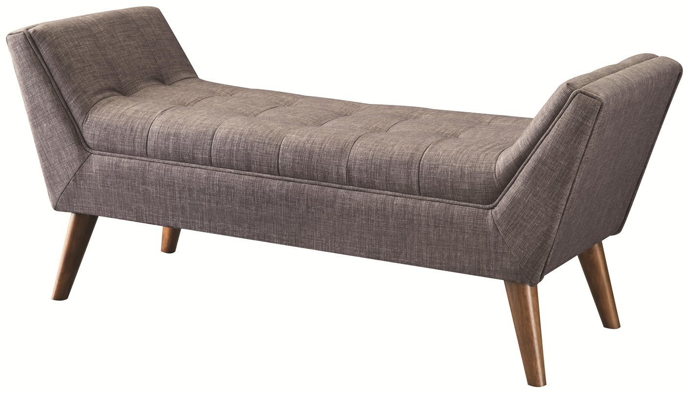 Coaster 500008 Grey Fabric Bench Steal A Sofa Furniture