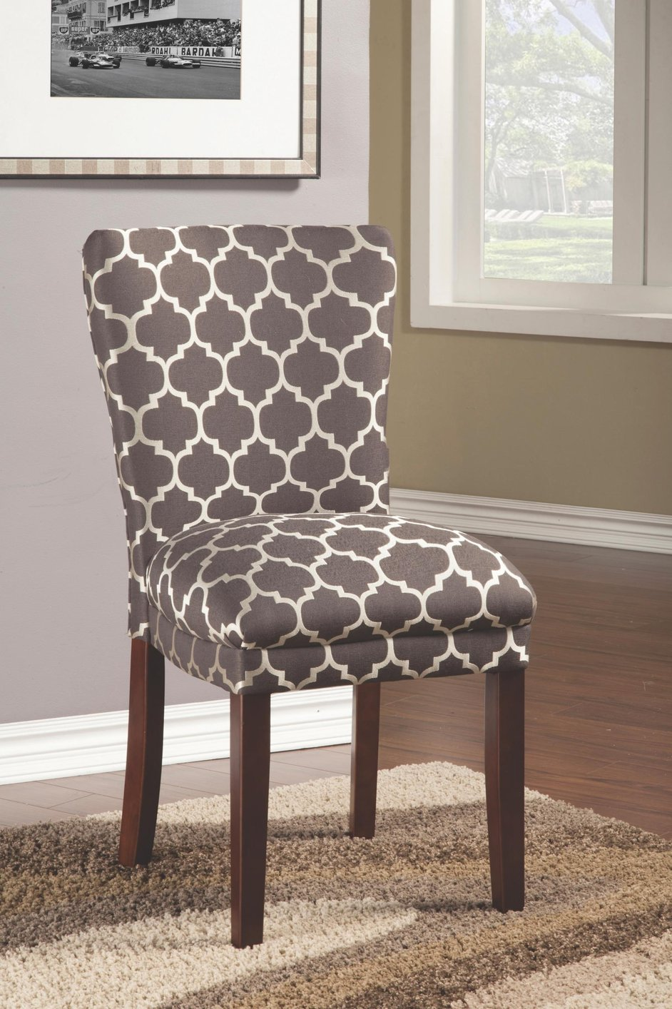 coaster 104044 grey fabric dining chair steal a sofa