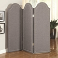 Grey Fabric Folding Screen