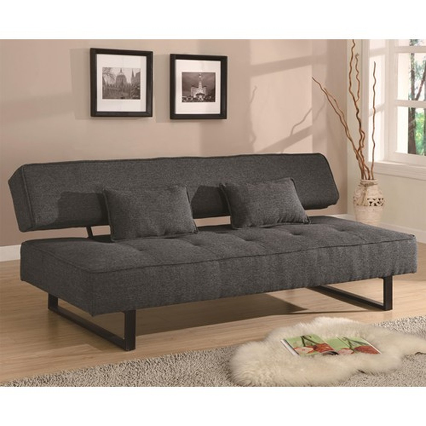 Coaster 300137 Grey Full Size Fabric Sofa Bed - Steal-A ...