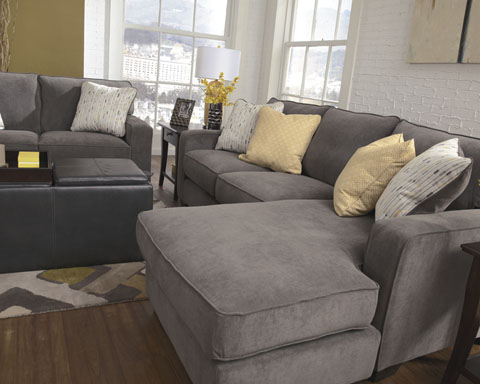 Signature Design By Ashley 7970018 Grey Fabric Sectional