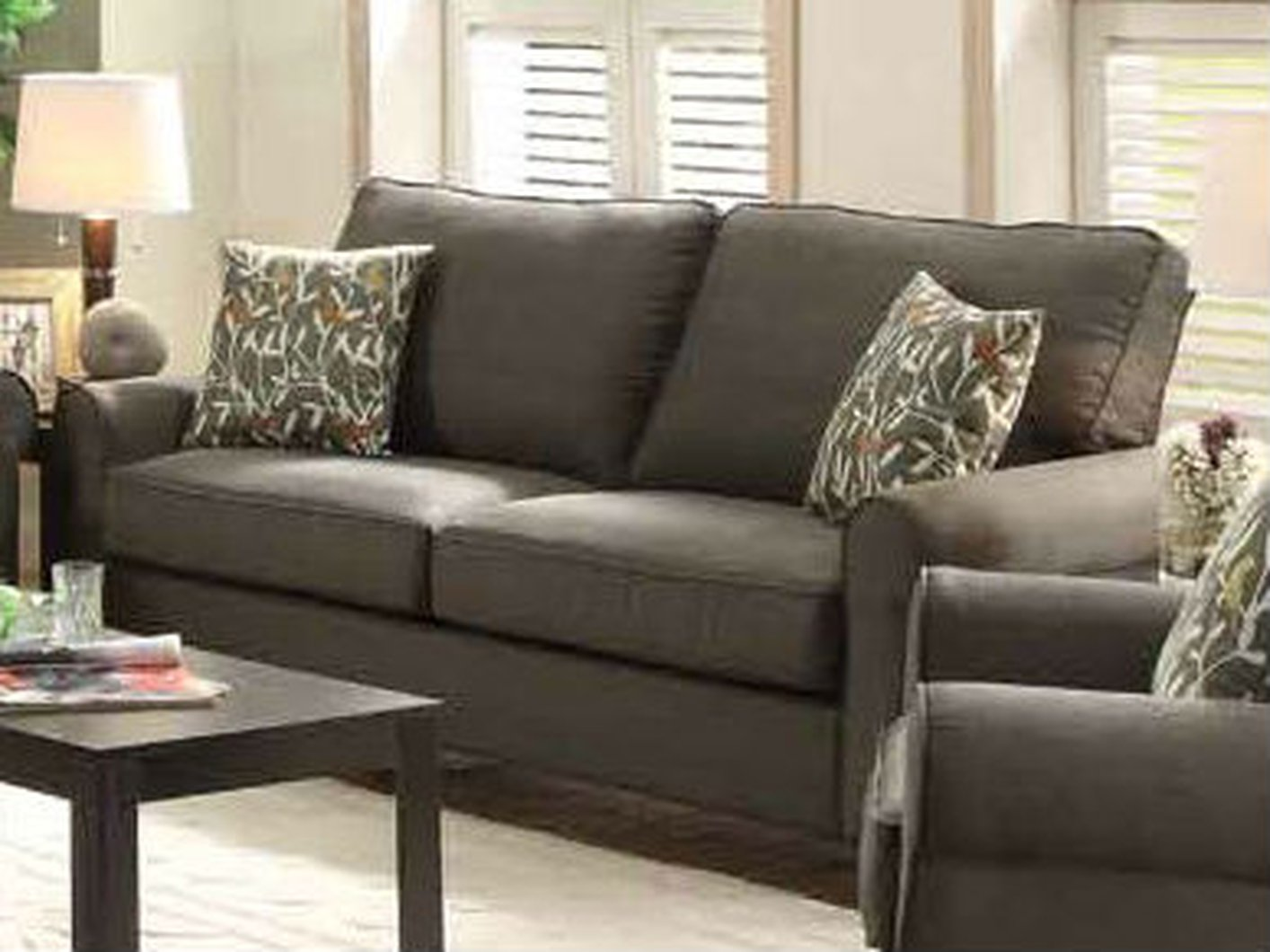coaster noella 504781 grey fabric sofa steal a sofa furniture outlet