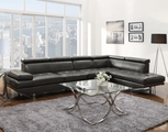 Grey Leather Sectional Sofa