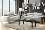Falcon Grey Wood Sofa and Loveseat Set