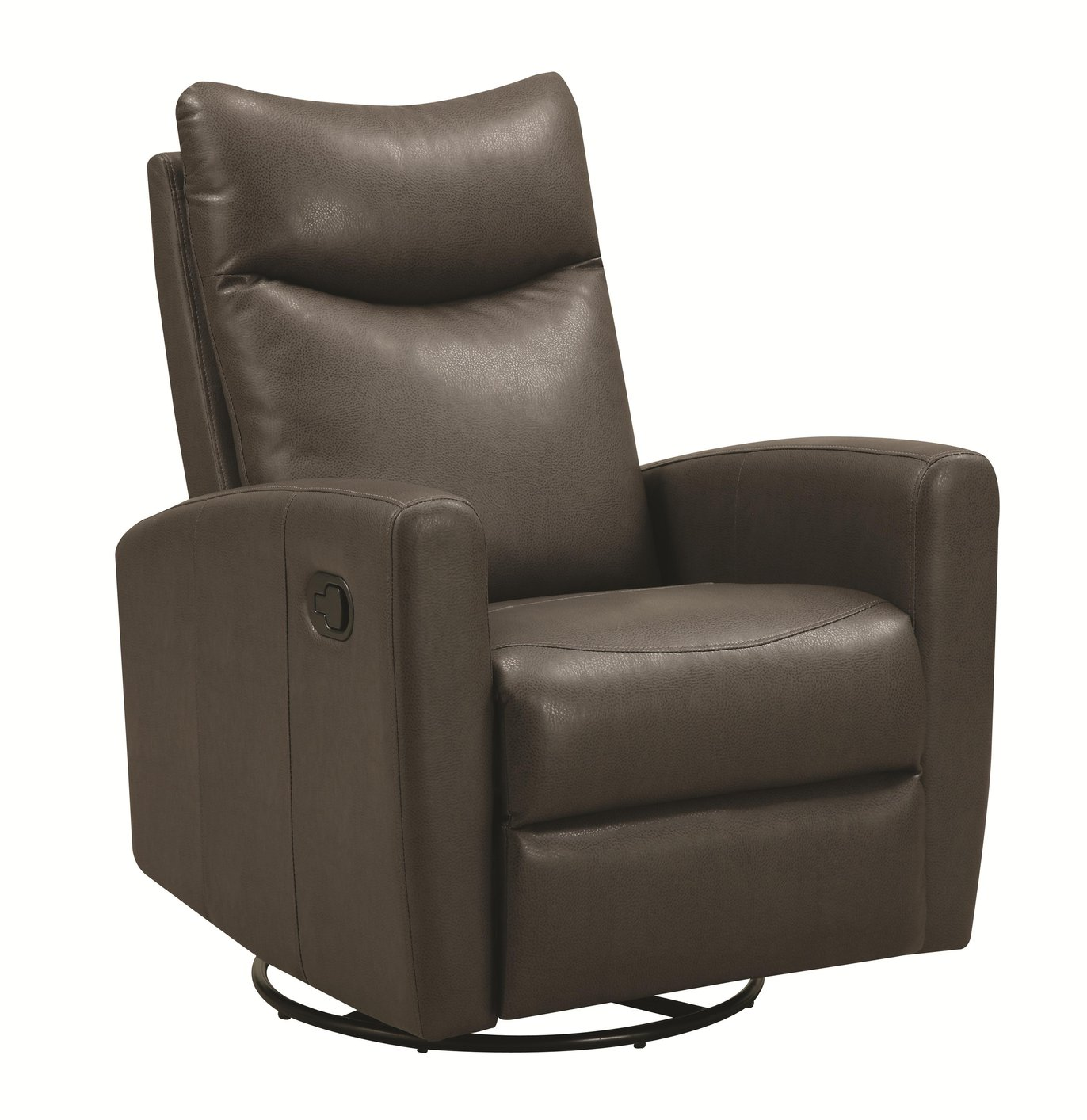 Coaster 600035 Grey Leather Swivel Recliner Steal A Sofa  : grey leather swivel recliner 9 from www.stealasofa.com size 1372 x 1414 jpeg 172kB